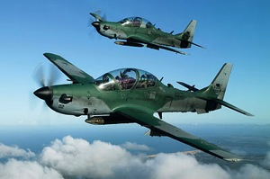 Super Tucanos flying in formation. http://xzone-military.blogspot.com/2012/01/super-tocano-tiba-di-malang-pada-maret.html